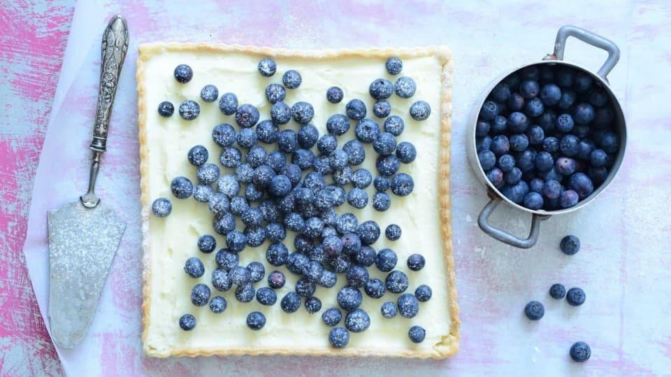 Borůvkový koláč s mascarpone