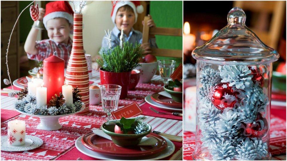 Drobné vánoční dekorace se dětem líbí