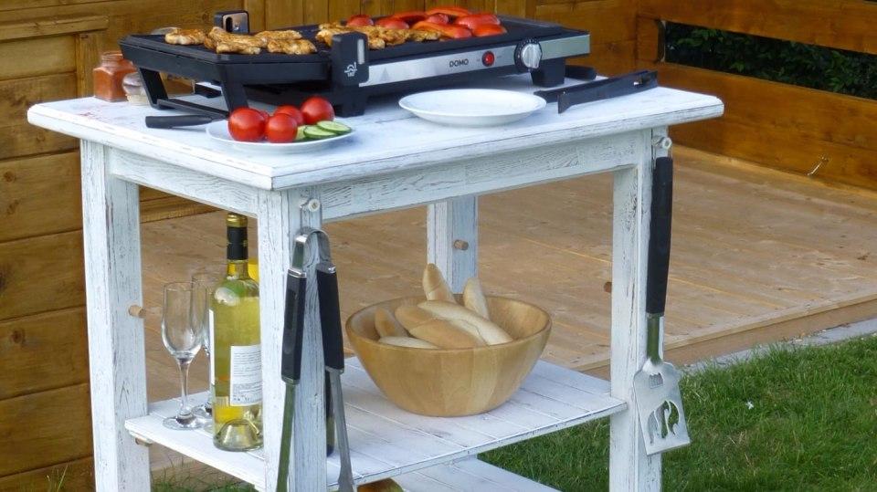 Patinovaný stolek pod gril 6