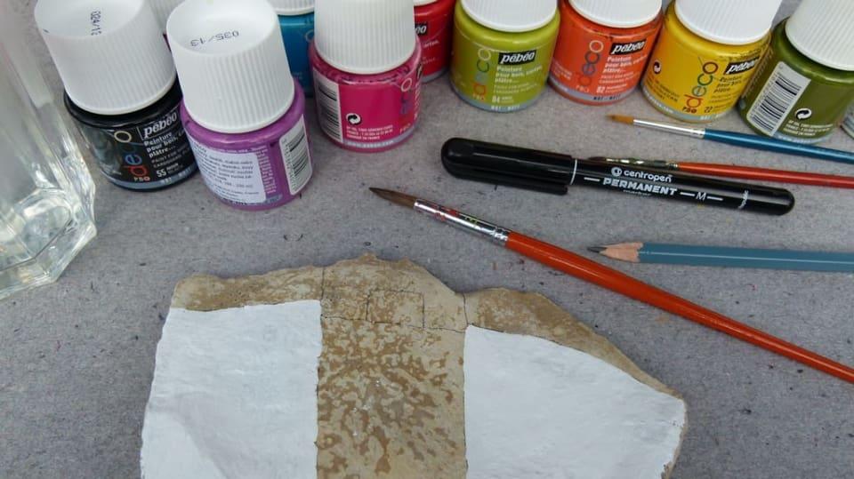 Jak namalovat městečko na opukový kámen: Dekorace nejen do zahrady 4