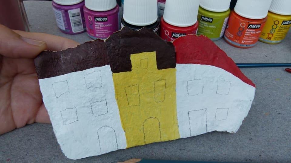 Jak namalovat městečko na opukový kámen: Dekorace nejen do zahrady 7