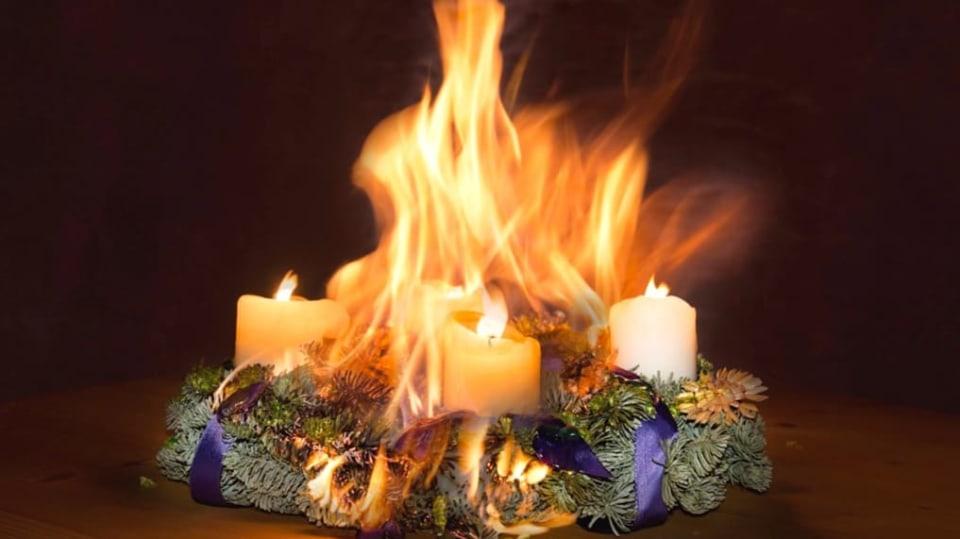 Největší vánoční riziko je otevřený oheň bez dozoru