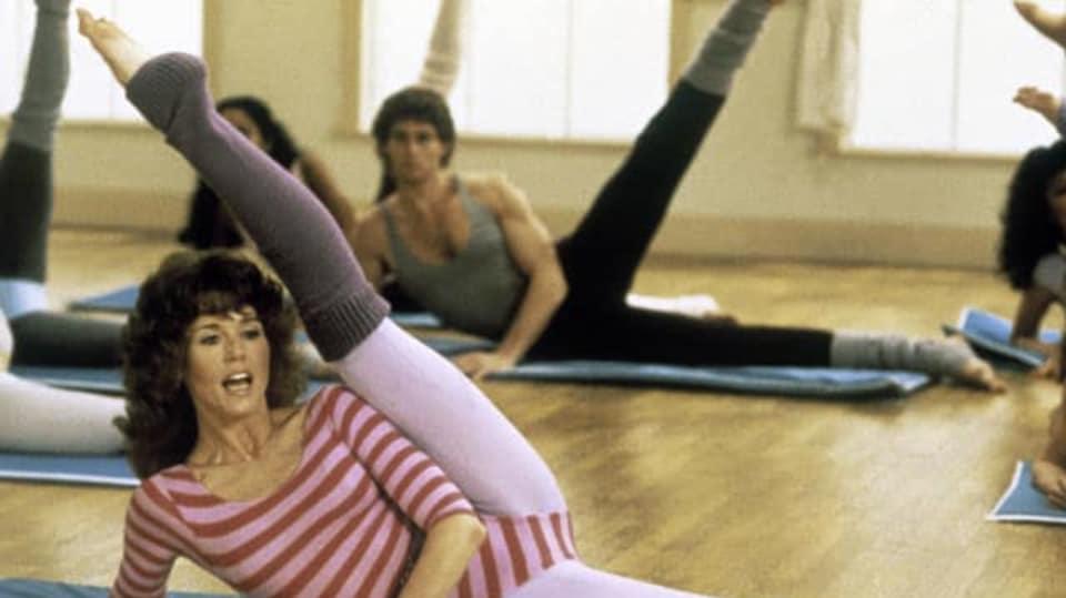 Jane Fonda cvičí
