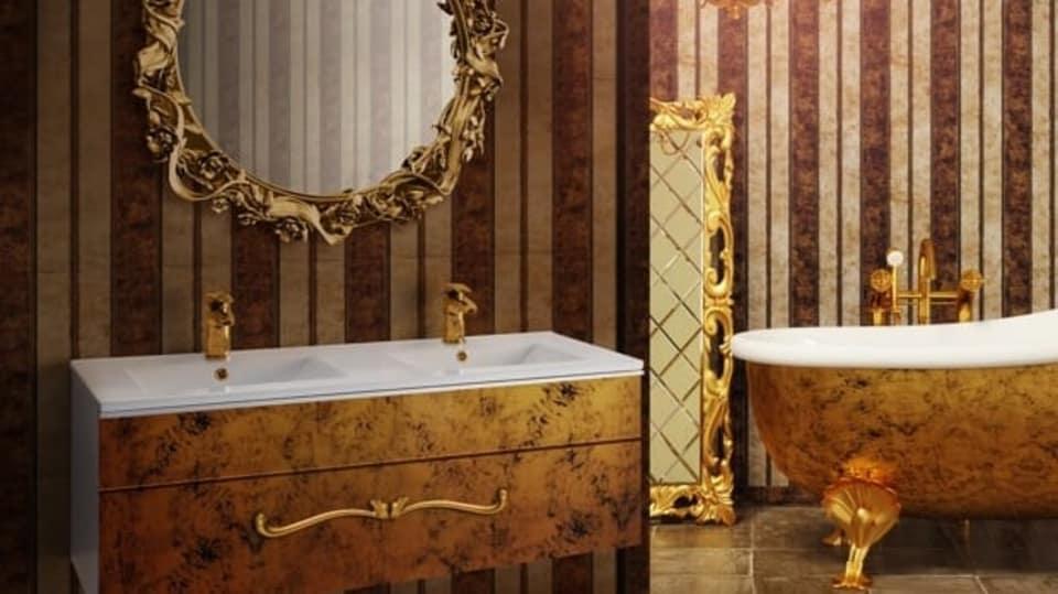 Zařiďte si koupelnu po svém. S nábytkem na míru si můžete dovolit i baroko! FOTO: Dřevojas