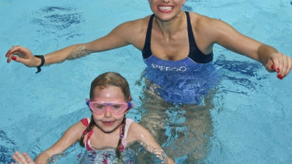 Tereza Mátlová a její dcera Emily jsou jako mořské panny