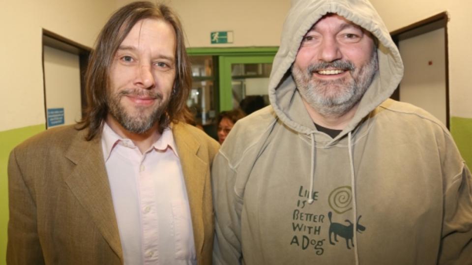 Daniel Hůlka se svým manažerem a spolubydlícím  Martinem Svobodou