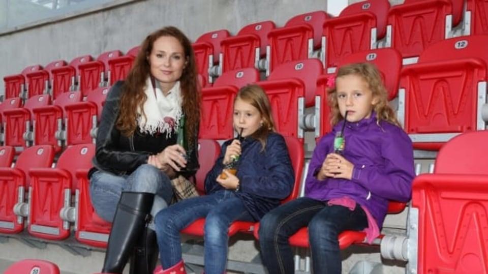 Markéta Hrubešová s dcerou Christel a její kamarádkou po náročných závodech