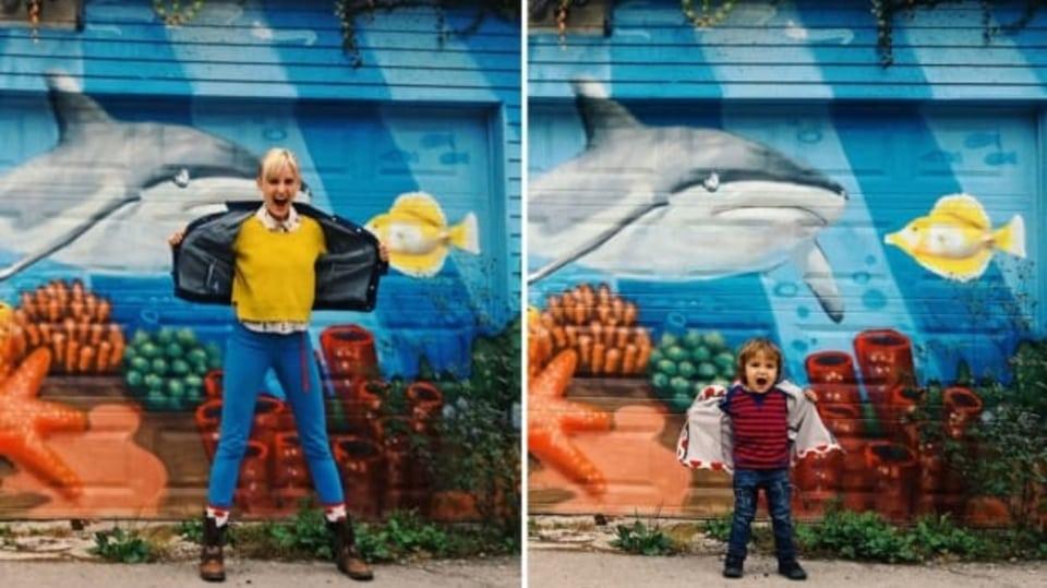 Přestože jsou Henrymu z Toronta teprve dva roky, už je z něj produktivní umělec. Svou chůvu zaznamenává ve stejných pózách jako sebe. Vzniká tak unikátní konceptuální série.