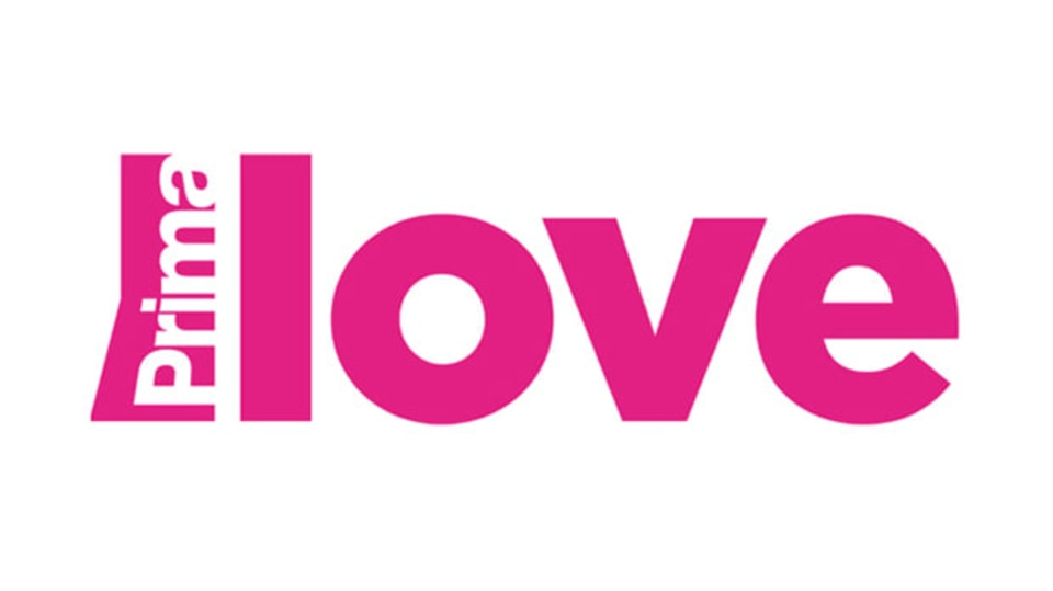 Prima LOVE logo bilé plátno