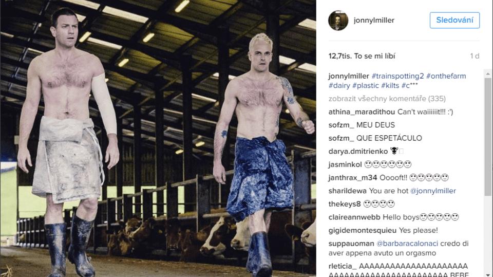 Johnny a Ewan McGregor spolu natáčeli pokračování Trainspottingu