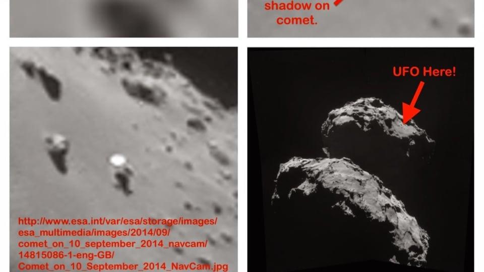 Co je na fotkách z komety?