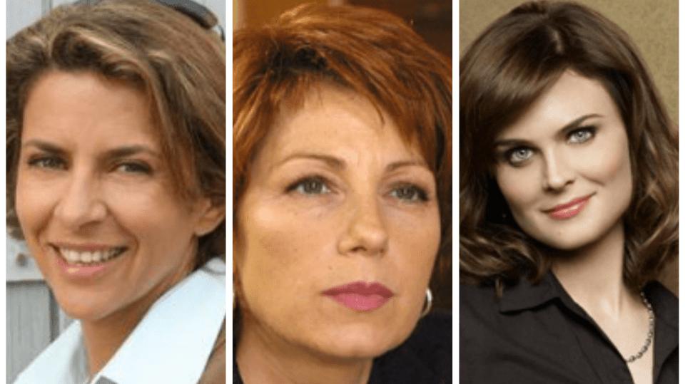 Koláž- seriálové ženy od policie