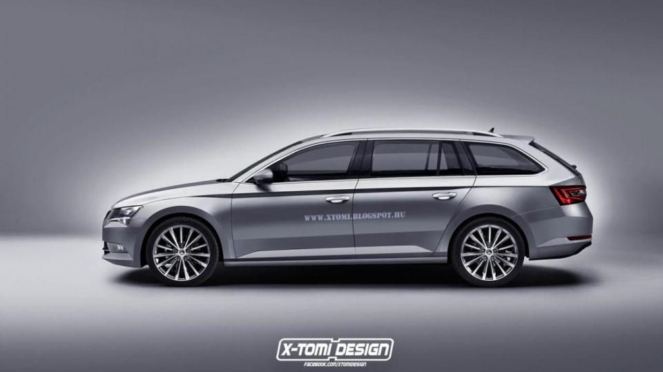 Škoda Superb Combi Render