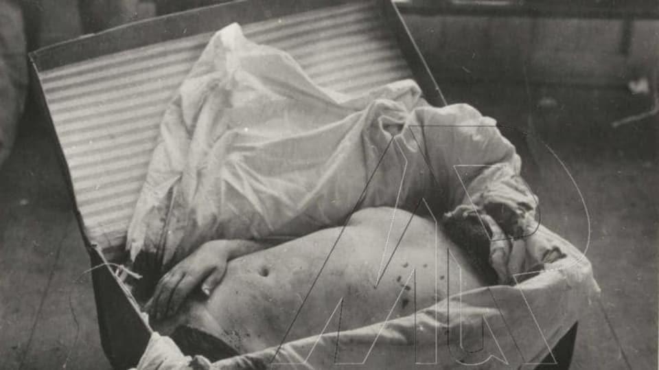 Hrůzný nález těla v kufru z 2.9.1933