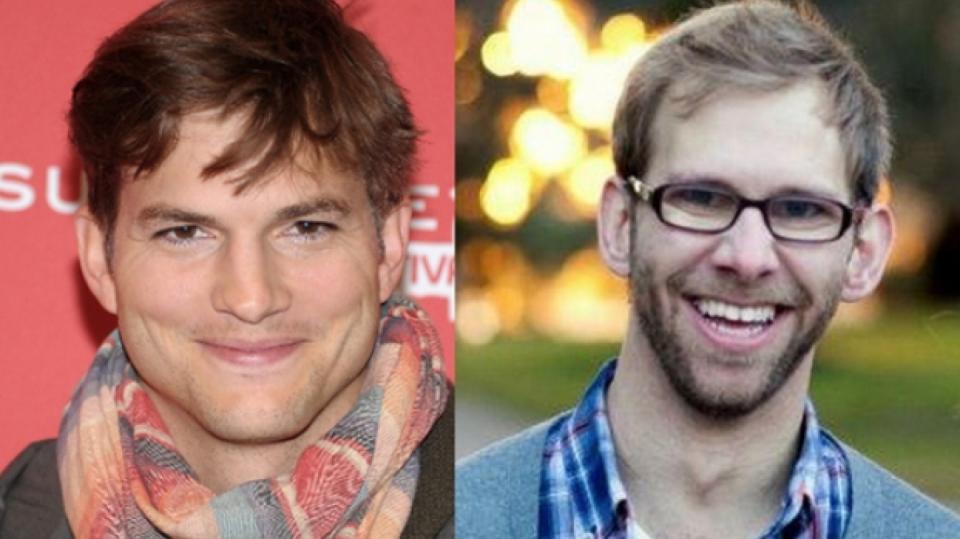 Slavný herec Ashton Kutcher a jeho bratr Michael
