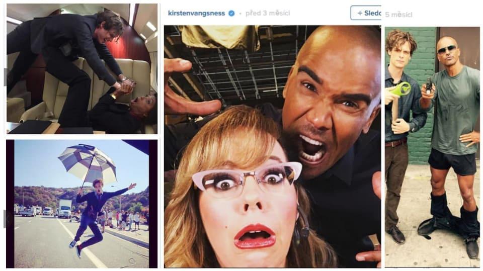 Hvězdy Myšlenek zločince se fotí na Instagram