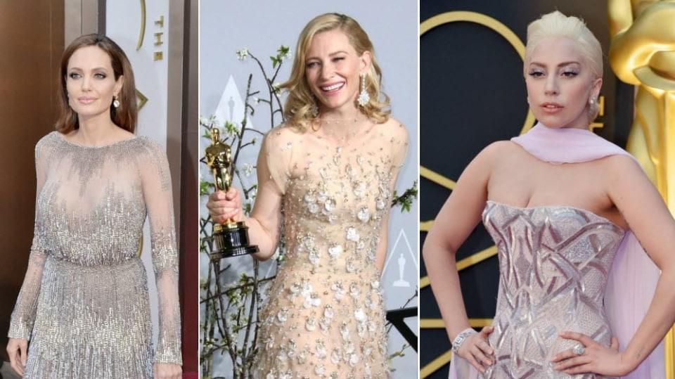 Video VIP zprávy: Na Oscarech letos převládala tělová barva šatů. Dámy vypadaly, že pod nimi nic nemají!