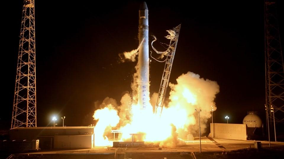 Start rakety Space X Falcon, foto: Space X