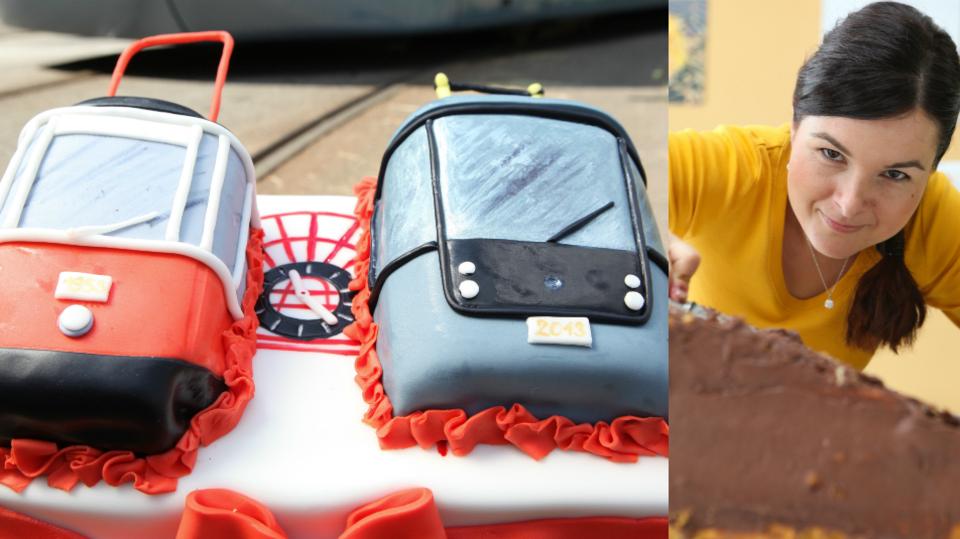 Markétin božský dort s tramvajemi