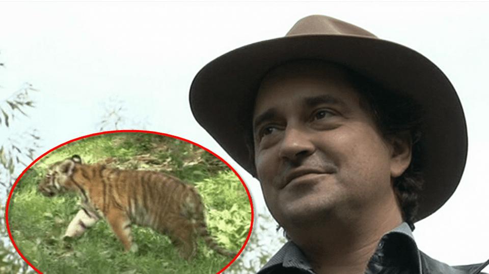 Video VIP zprávy: Saša Rašilov pokřtil dva malé tygříky