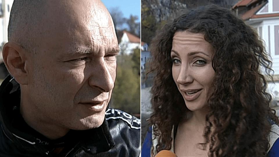 Video VIP zprávy: Daniel Landa a Olga Lounová natáčeli Landův nový klip v Českém Krumlově