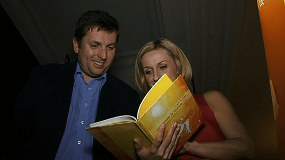 Video VIP zprávy: Terezie Kašparovská a Tomáš Hauptvogel podpořili děti a jejich zájem pro četbu