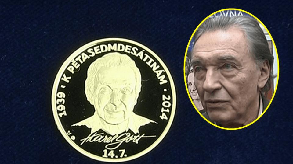Video VIP zprávy: Svou zlatou minci má i zlatý slavík Karel Gott