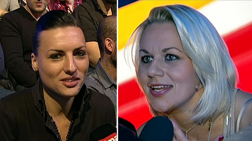 Video VIP zprávy: VyVolená Pavlína (vpravo) stihla svojí Mirce mezi přenosy poslat aspoň vzdušnou pusu