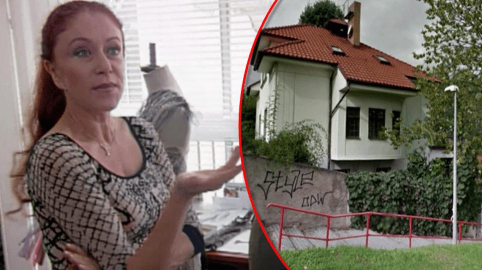 Návrhářka Blanka Matragi nechala zbourat bez povolení vilu v Praze na Ořechovce