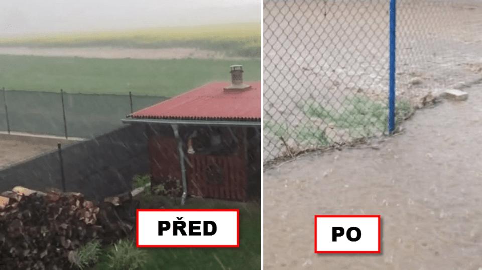 video Divácké zprávy: Takhle to vypadá, když v Herinku prší