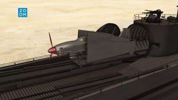 Křídla bombardéru Seiran se dala složit