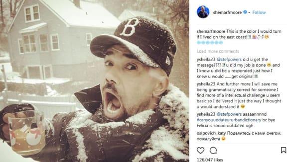 Shemar Moore v zasněženém Bostonu
