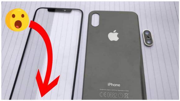 První fotky předního a zadního dílu iPhonu 8