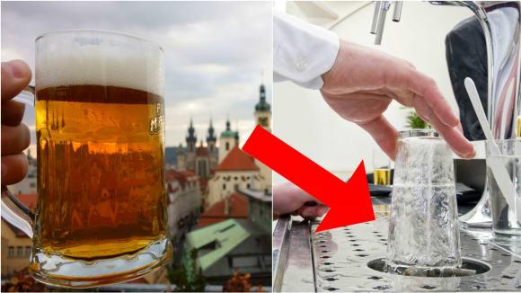 Proč se oplachuje sklenice?