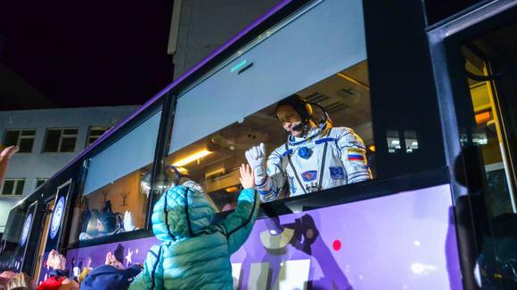 Kosmonauté před odletem