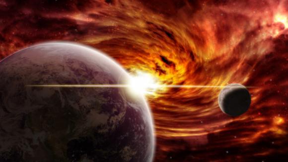 Planety padající do černé díry