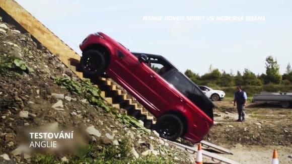 Range Rover Sport vs nebeská brána