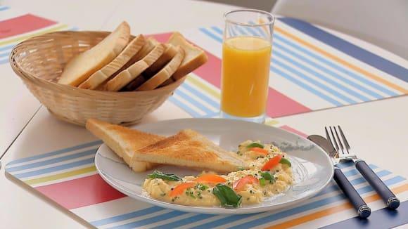 Míchaná vejce s créme fraîche