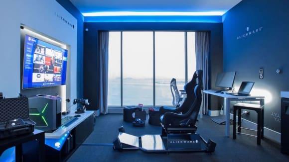 Ultimátní pokoj pro hráče v panamském hotelu Hilton.