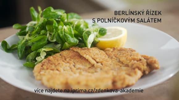 Berlínský řízek s polníčkovým salátem
