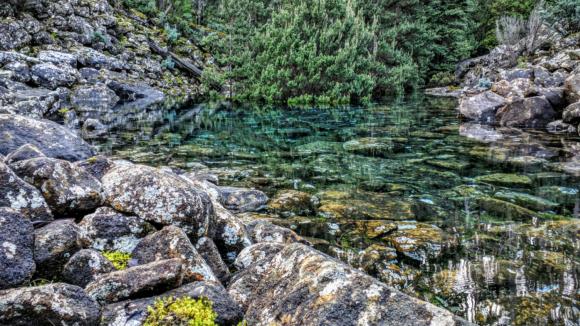 Ztracené jezero v Tasmánii