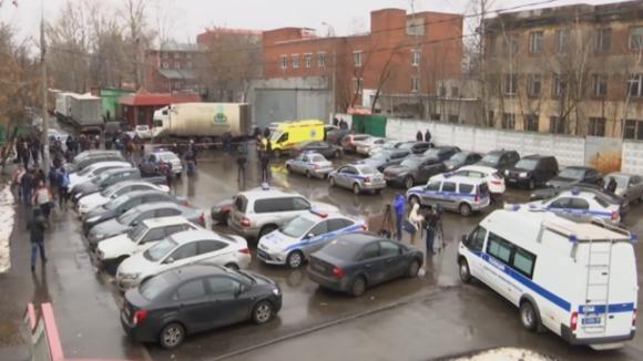 Střelba v ruské továrně