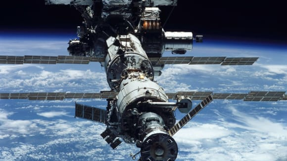 Ilustrační obrázek ISS.