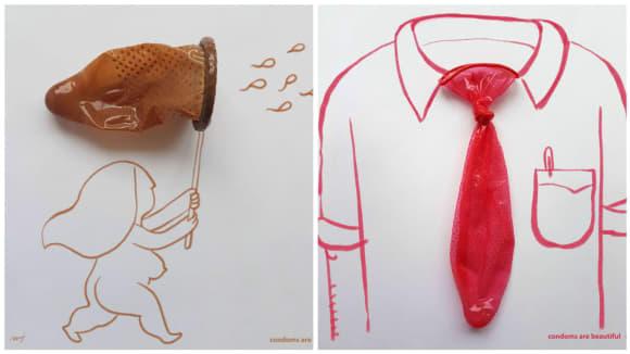 Kondomy se dají použít různě. Ale používejte je hlavně tak, jak se mají... ;)