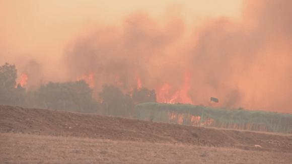 Požár v okolí Benkovace