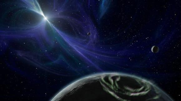 umělcova představa pulsaru