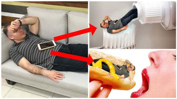 Ze spící šéfa se stal virální spáč