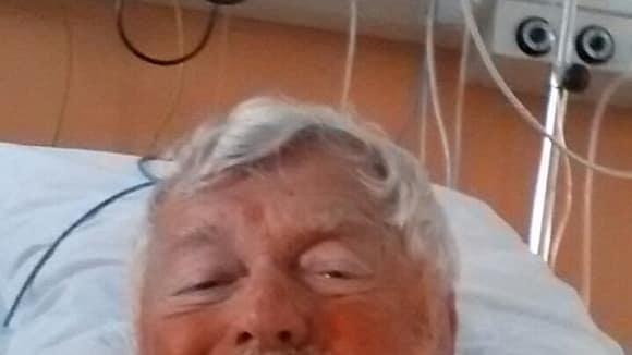 Josef Klíma v nemocnici