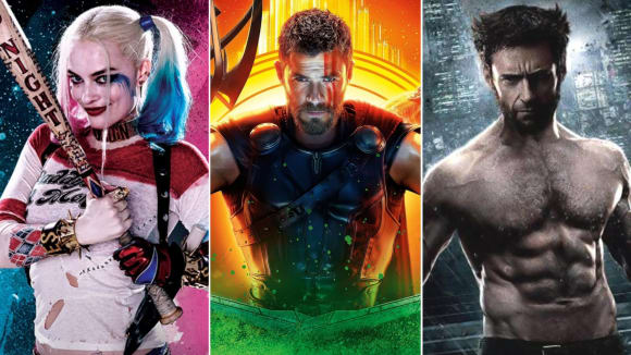 Margot Robbie, Chris Hemsworth a Hugh Jackman