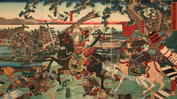 Bitva u Awazuwagara s Tomoe v čele